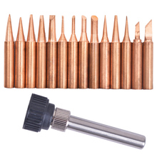 15PCS pure copper solder Iron tip 900M tip for soldering rework station for 936, 937, 938, 969, 8586, 852D(China)