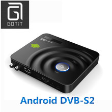 GOTiT Y1 Android DVB-S2 Satellite receiver decoder CCCAM Multi-CA Supported DVB S2 Digital Set top Box Smart Android TV Box