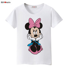 BGtomato New!! beautiful women Mickey T-shirt summer super cute cartoon shirts Brand tees good quality comfortable casual tops(China)