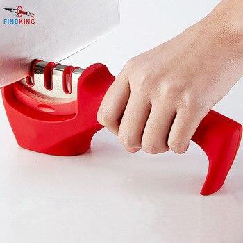 FINDKING brand 3 Stages (Diamond & Tungsten steel & Ceramic) Kitchen Knife Sharpener ,Sharpening Stone Household Knife Sharpener