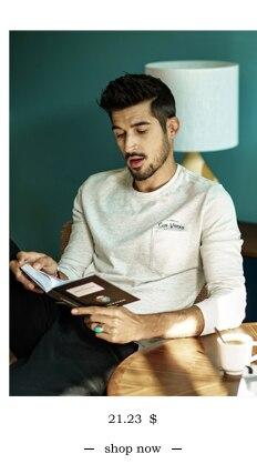 SIMWOOD 2018 Automne À Manches Longues T-shirt Hommes 100% Pur Coton Slim Fit Drôle de Mode De Poche Tops Haute Qualité TC017004 8