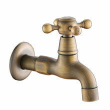 Bathroom antique single cold tap washing machine cold faucet small taps for bathroom(China)
