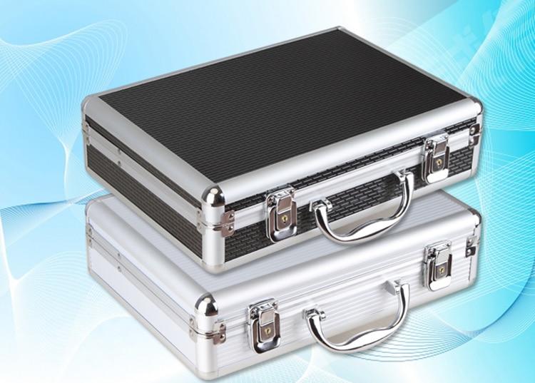 tool box aluminium tool case 317*227*80MM magic props file storage Hard carry tool box Hand Gun Locking Pistol free shipping<br>