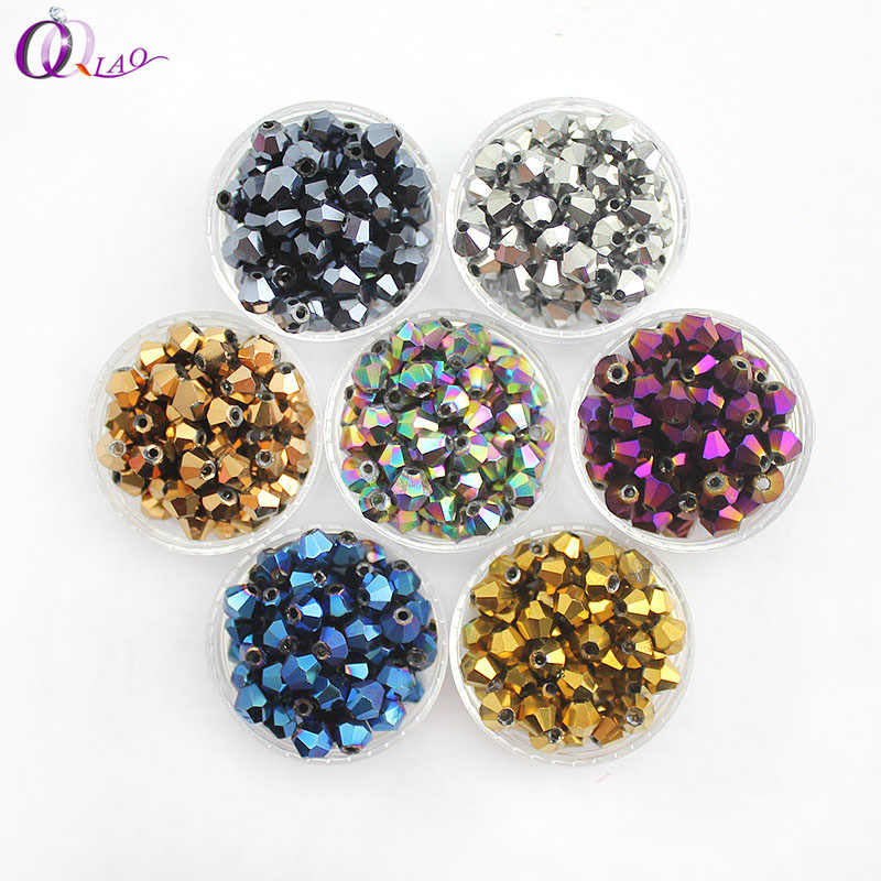 Bulk Charms Pretty Glass Crystal Faceted Bicone Loose Spacer Beads 4mm//6mm//8mm#Q