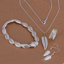S112 Silver plated Lovely jewelry sets silver 925 jewelry Leather Four-Piece S112 /akeajbla avwajnda(China)