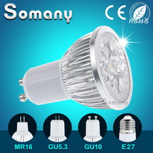Dimmable LED Bulb GU10 GU5.3 E27 220V 110V Home Bombillas Lamparas MR16 12V Led Lamp Support Dimmer 3-15W Aluminum Led Spotlight
