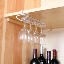 Useful Kitchen Bar Red Wine Glass Hanger Holder Hanging Shelf Wine Cup Glass Wine Rack Wall Suction Goblet Rack 3(China)