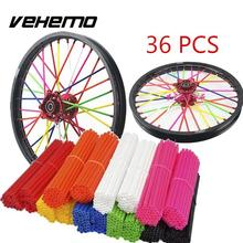 Universal Motorcycle Wheel spoke skins Dirt Bike Enduro Off Road Rim For honda crf 450 CR CRF XR XL 85 125 250 500 KTM KAWASAKI(China)
