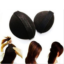 Hot Sale Magic Hair Updo Tuck Comb Wear Volume Pad Velcro Girl Women DIY Styling Tool (color:Black)