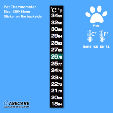 Pet Thermometer for Dogs, Cats, Birds, Reptiles and Amphibians, 18-34 degree, 1,000pcs/lot, Free Shipping by DHL(China)