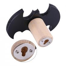 Multi-use Cute Bat Shape Wooden Clothes Wall Hook Kids Children Room Wall Decorate Hanger Organizer(China)