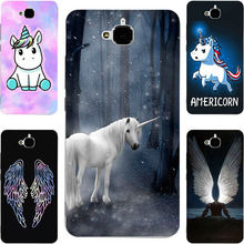 Myth Unicorn Horse Angel Wing Painting Case For Huawei Honor 4C Pro /Play 5X/ Enjoy 5/ Y6 Pro/ Holly 2 Plus Phone Printed Cover(China)