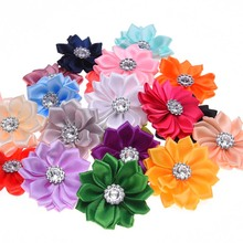 20PCS artificial flower bouquets Rhinestone Flower DIY Flowers Home decoration hair accessories for Headband(China)