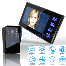 Best 7'' Color Video door phone Intercom Doorbell System Touch Button Remote Unlock Night Vision Security CCTV Camera 816A11