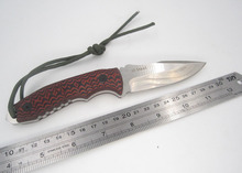 D2 Stainless Steel fixed blade knife combat machete cuchillo camping hiking outdoor cutting cutter