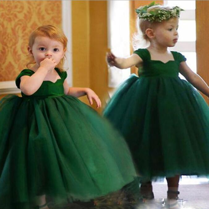 Y02-X004 Luxurious Childrens kids Princess flower Girl Dress Summer Wedding Birthday Party Dresses Costume Puff sleevele<br>