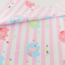 Cute Pink Elephant Cotton Fabric Quilting Patchwork Sewing Cloth Craft Teramila Fabrics Tecido Bedding Tissue Home Textile