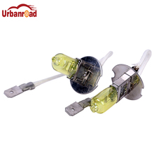 Urbanroad 2pcs/lot H3 Light Bulbs 3000K Halogen Xenon H3 12V 55W Golden Yellow Fog Factory Price Car Styling Parking(China)