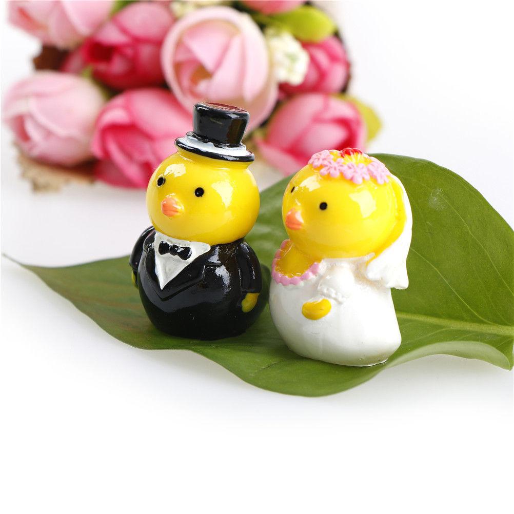 1PCS 2 Styles Wedding Chick Miniature Animal Home Garden Bonsai Decoration Mini Toy Craft Ornaments Micro Decor DIY Gift