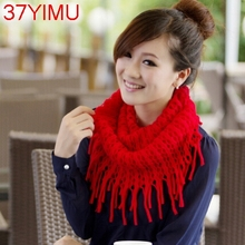 Fashion Womens Winter Warm Knitted Layered Fringe Tassel Neck Circle Shawl Snood Scarf Cowl