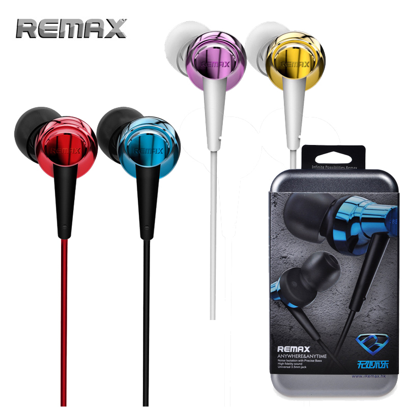 Original Remax Earphone In-Ear Stereo Headset Headphone with mic for iPhone iPad HTC Android Smart Phones<br><br>Aliexpress