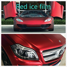 Buy 10x152cm Car Carbon Fiber Vinyl Film Car Sticker Plating Matte red Ice Film Vinyl Auto Wrapping Vinyl Fiber Motocycle Laptop for $5.51 in AliExpress store