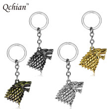 Buy Movie Game thrones Keychain House Stark Key Chains Song Ice Fire Key Rings Holder Souvenir Gift Chaveiro Jewelry for $1.23 in AliExpress store