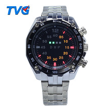New Luxury TVG Men's Watch Stainless Steel LED Sport Watches Casual Wrist Watch Clock Relogios Masculino