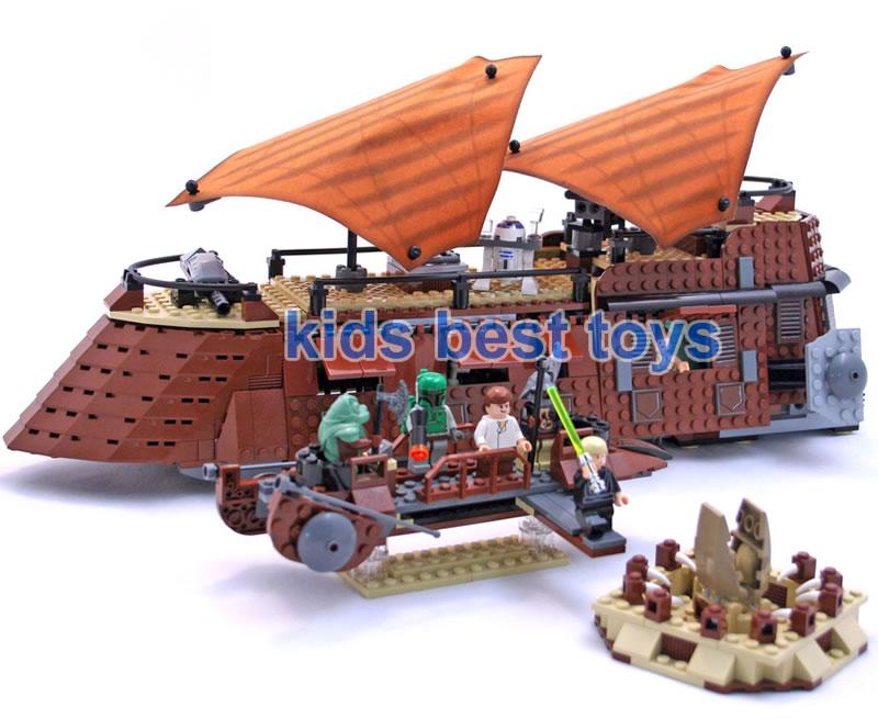 Star Wars Jabbas Sail Barge Boat Ship 05090 Toys Boys DIY Building Brick Toys Gift Same 6210<br>
