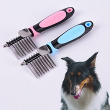 Pets Puppy Cat Hair Grooming Brush Comb Dematting Trimmer Tool Mat Remove AA