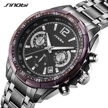 Buy Luxury Fashion Brand SINOBI Men's Quartz Date Clock Men Waterproof Chronograph Sports Wrist Watch 2017 Relogio Masculino for $18.99 in AliExpress store
