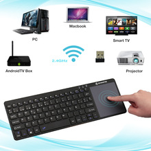 MAORONG TRADING New 2.4GHz Wireless Keyboard with touchpad Spanish Keyboard For macbook all in one PC spain standard keyboard