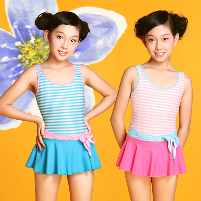 Children Girl One-pieces Swimwear Brand New High Quality Girls Bathing Suit Pool Spa Swimsuit for Girl 8-16 Years Old<br>