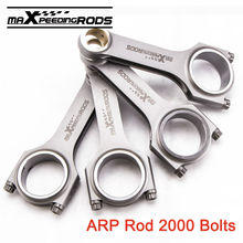 Conrod Connecting Rod ARP 2000 Bolts for Renault 12 Gordini 1.6L Rods H Beam 136.5mm Conrod Racing Billet Pleuel Bielle Piston