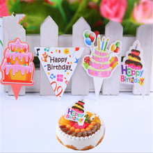 HEY FUNNY Lot Of 100 Birthday Cupcake Topper Cake Topper Wrappers Decoration Accessories Items Gear Stuff Supplies Products(China)