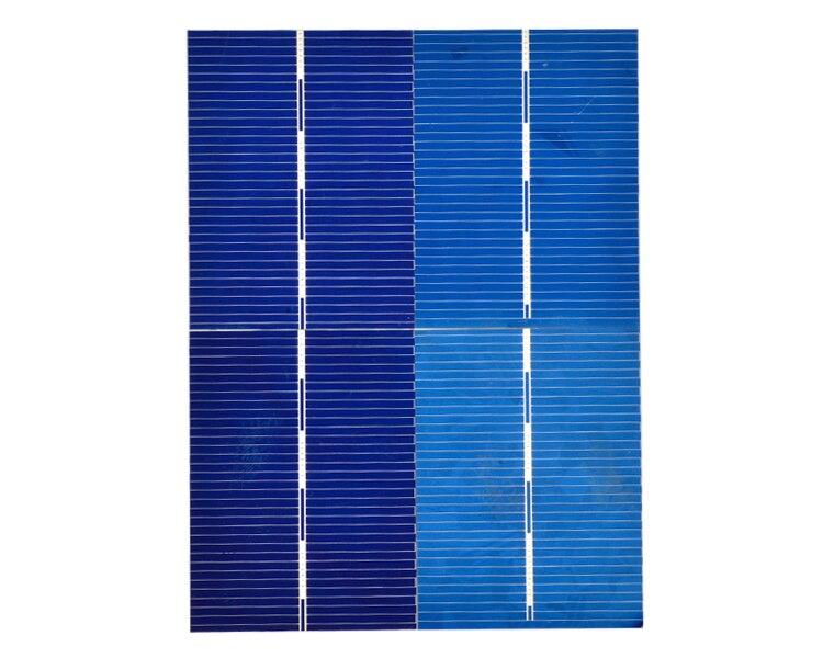 Aoshike 100Pcs 0.5V 0.35W Solar Panel Solar Cell Color Crystal Module Sun Power Bank 39x52MM DIY Solar Battery Charger 4
