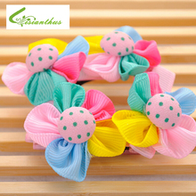 Hot Sale 3pcs Pet Hairpin Lovely Colorful Flower Bow Pet Dog Cat Puppy Grooming Hairpin Hair Clip Dog Wedding Accessories