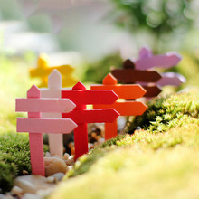 10PCS Wood Crafts sign board signboard miniatures fairy garden gnome moss terrarium decor bonsai Figurines Micro Landscape