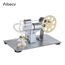 Aibecy Mini Hot Air Stirling Engine Motor Model Stream Power Physics Experiment Model Educational Science Toy Gift For Children(China)