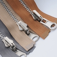 2 PCS/LOT METAL Zipper Spiral  2-FACE SLIDER OPEN-END For JACKET Coat Down Outwear Clothes Sewing Accessories