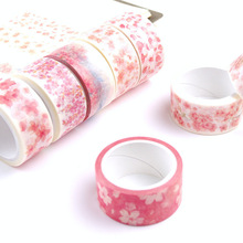 NOVERTY Kawaii Sakura flower Washi tape Adhesive Masking tape DIY decorative stickers Stationery school office supplies 02518(China)