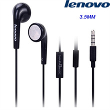 Original Lenovo Earphone 3.5mm Black earbuds with Mic/Voice Control for K900 K920 S720 S600 Vibe note LG HTC SAMSUNG SONY ZUK