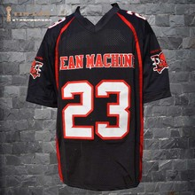 TIM VAN STEENBERGE Nelly 23 Earl Megget Mean Machine Convicts Football Jersey Includes Patches Stitched Sewn-Black(China)