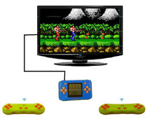 Rechargeable 2.5 Inch Handheld Game Player Console For Retero 8 Bit Games For Nes Games with Two Wireless Gamepads 75 Games