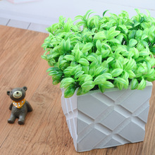 APRICOT 6 Branches Bean sprouts Plastic Artificial Grass Leaves Plant for Home Study Decoration Arrangement(China)