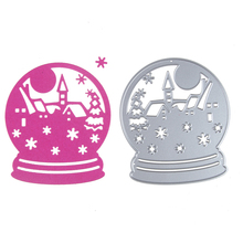 Christmas winter snow globe scene Dies cutting decorative Scrapbooking Steel Craft Die Cut create Stamps Embossing card Stencil(China)