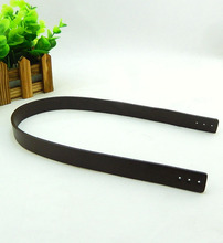 DIY high quality cowhide leather Bag handle,55/70CM*2CMTan bag strap accessories