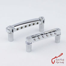 1 Set Chrome GuitarFamily Tune-O-Matic Electric Guitar Bridge And Tailpiece For Epiphone Schecter LTD