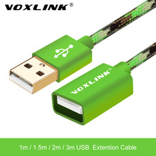 VOXLINK USB 2.0 Male to Female USB Cable 1m/2m/3m/5m Nylon Extend Extension Cable Cord Extender For PC Laptop Mobile phone