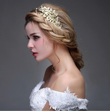 Gold 2016 Real Image Bridal Accessories Fashion Woman Vintage Fascinator New Arrive Wedding Hair Wear Cheap Modest Free Shipping